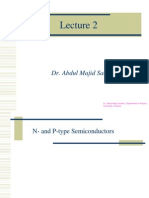 Lecture 2 N and P Type Semiconductors