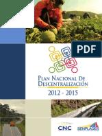 Plan Nacional de Descentralización 2012-2015