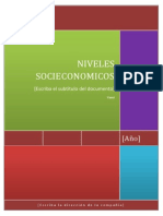 Monografia Final Niveles Socioeconomicos