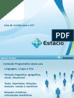 Aula de Revisao Av Da ESTACIO Portugues