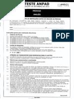 Teste Anpad - Inglês - Edição - Setembro 2013