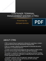 103060587 Container Terminal Management System CTMS