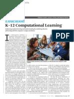K-12 Computational Learning