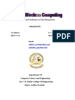 Mobile Wireless Computing