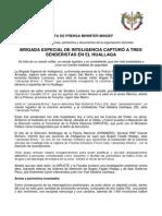 BRIGADA ESPECIAL DE INTELIGENCIA CAPTURÓ A TRES SENDERISTAS EN EL HUALLAGA