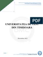 Raport UVT Politici Publice Fundamentate in Invatamantul Superior Romana