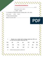 Evaluación de Matematica.2