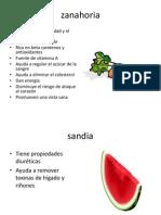 Efectos de Las Frutas y Verduras