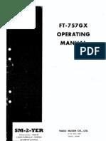 Emisora FT-757GX Operating Manual 39 Paginas