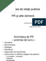 Activitatea de Relatii Publice