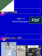 BATTING - Mental Management