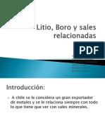 Litio, Boro y Sales Relacionadas