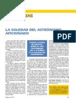 La Soledad Del Atrónomo Aficionado - Articulo Tribuna