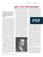 INGOLD Anthropology is Not Ethnography