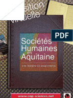 """Flyer """"Les sociétes humaines en Aquitaine"""""""