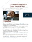Pakistan PM to Attend Inauguration of India's New Leader Narendra Modi