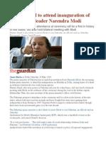 Pakistan PM to Attend Inauguration of India's New Leader Narendra Modi