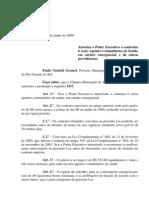Projeto de Lei 033 - 09 Lei 690