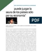 Entrevista a Víctor Manuel Tirado acerca del papel central de la filosofía -en particular- y las humanidades -en general- en la educación secundaria frente al reduccionismo positivista que despoja la educación de lo propiamente humano.docx