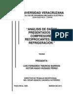Analisis de Daños Presentados en Compresores Reciprocantes Para Refrigeración