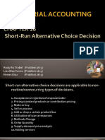 Managerial Accounting - Short-Run Decision