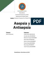 Asepsia y Antisepcia (Trabajo Listo)
