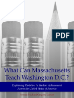What Can Massachusetts Teach Washington D.C.? Explaining Variation in Student Achievement Across the United States of America