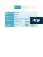 INFOSYS110 2014 Deliverable 2