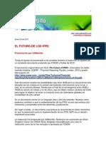 Futuro IFRS Enero 2013