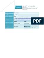 2014 S1 INFOSYS110 Deliverable 2
