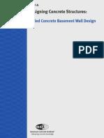 ACI Example Problem Buried Concrete Basement Wall Design