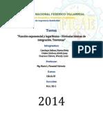 Función Exponencial y Logarítmica – Fórmulas Básicas de Integración. Teoremas OFICIAL