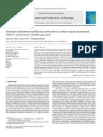 Hydrogen Adsorption Equilibrium and Kinetics in Metal–Organic Framework