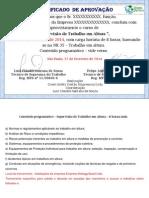 CERTIFICADO- SUPERVISAO DE TRABALHO EM ALTURA-certificado com n°de registro