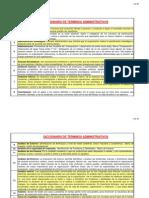 Definiciones de Terminos Administrativos