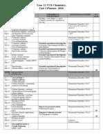 Unit 3 Chemistry Sem 1 Plan 2010