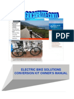 Electric Bike Soulitions Conversion Kit Owner%27s Manual