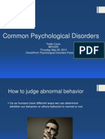 CheckPoint Psychological Disorders Presentation
