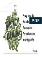 Pensum Periodismo de Investigacion