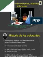 Preparación de Colorantes, Reactivos, Soluciones II-I