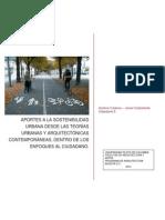 Aportes a La Sostenibilidad Urbana Desde Las Teorías Urbanas y Arquitectónicas Posteriores Al Movimiento Moderno