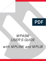 Mpasm,Mplink Quick Reference Guide