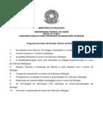 Edital12 2014 ProfessorEfetivo BrejoSantoIco Programa Biologia