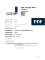blyth academy sph4u course outline