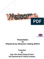 Presentation on Phased Array UT in Lieu of Radiography