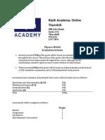 blyth academy sph4u evaluation scheme