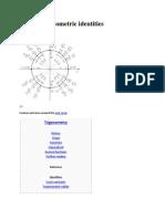 List of Trigonometric Identities.wikiPEDIA