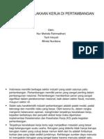 Analisis Kecelakaan Kerja Di Pertambangan