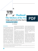 Thailand Food Processing - Lessons for India