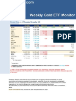 Goldessential.com Weekly Gold ETF Monitor